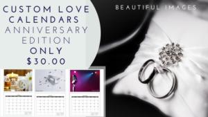 Custom Love Calendar Anniversary Edition