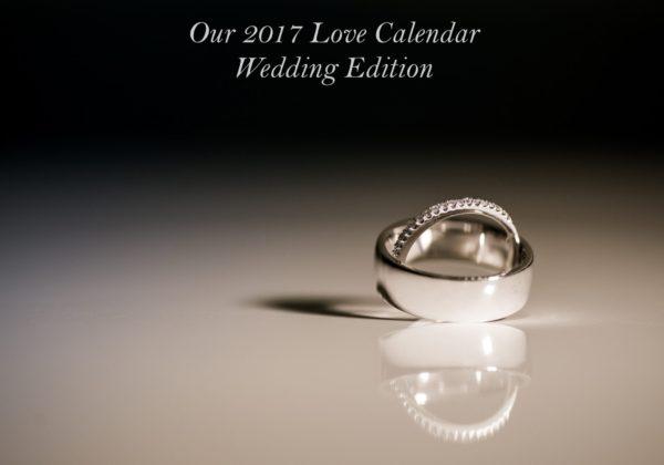Wedding Edition Love Calendar