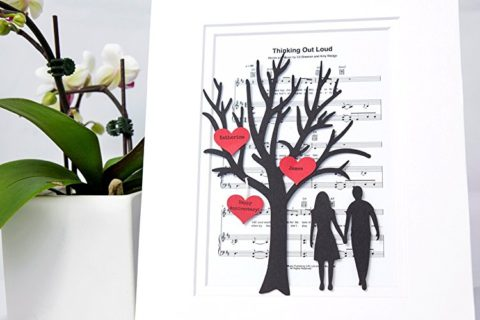 3D Tree & Hearts over Thinking Out Loud Sheet Music