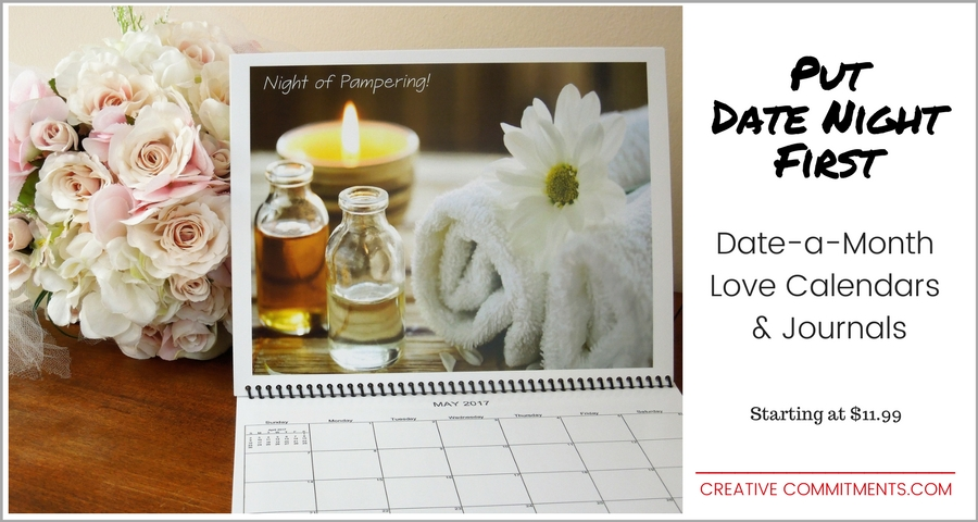 Romantic Gift: Date a Month Love Calendars & Journals