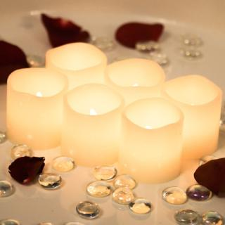 Romantic LED Real Wax Candles