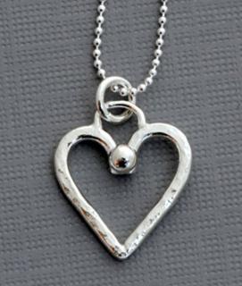 Dainty Sterling Silver Heart