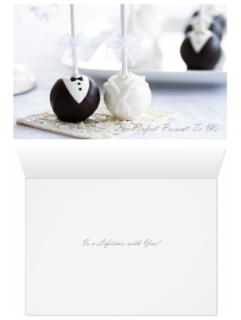 Wedding - Bride and Groom Cake Pops Perfect Present - Both