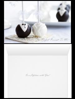 Love Card - Wedding Cake Pops Present