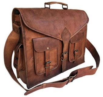 Rustic 18in Vintage Leater Laptop Bag